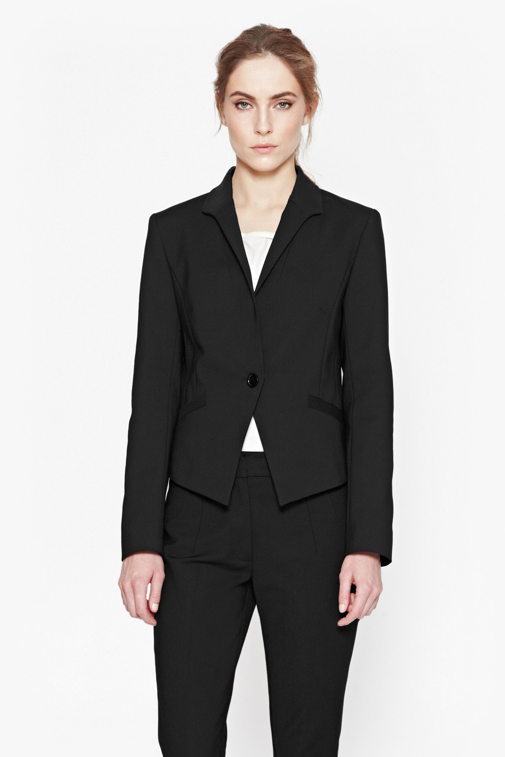 Glass Stretch Fitted Jacket