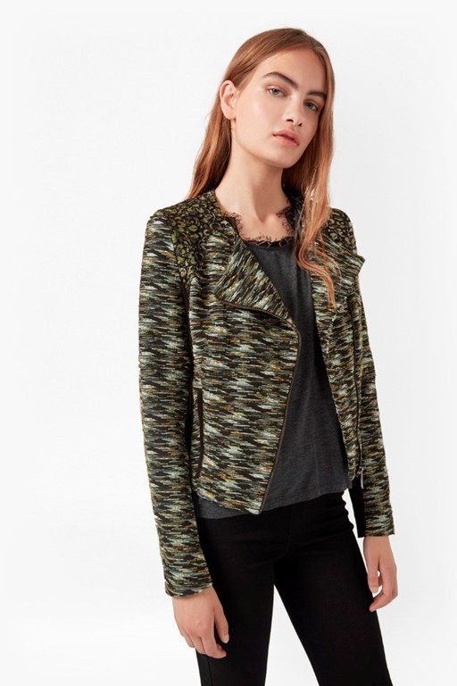 Complete the Look City Camo Biker Jacket