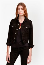 Looks Great With Micro Western Cropped Denim Jacket