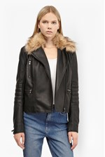 Looks Great With Blackbird PU Biker Jacket
