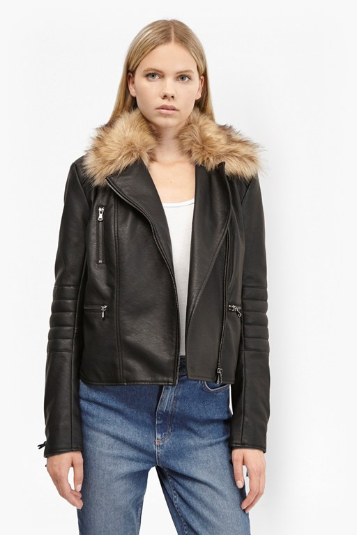 Complete the Look Blackbird PU Biker Jacket