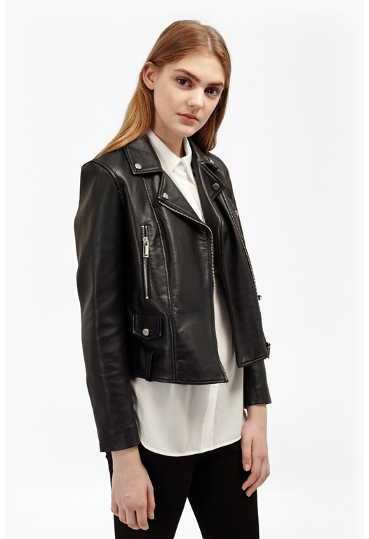 Lydia Boxy Leather Jacket