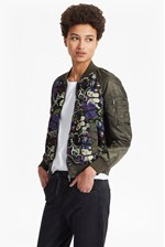 Looks Great With Rivera Floral Embroidered Bomber Jacket