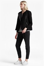 Looks Great With Delunay Lace Stretch Biker Jacket
