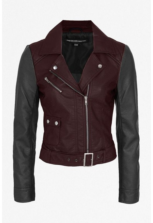 Athena Colour Block Biker Jacket