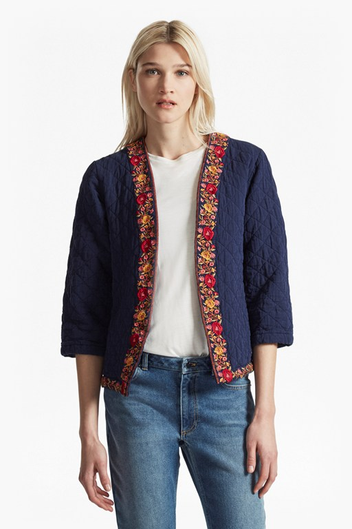 parsi cotton embroidered kimono jacket
