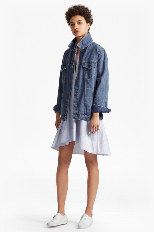 Complete the Look Slouchy Western Boyfriend Denim Jacket