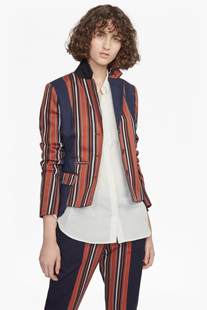 Dovie Stripe Suiting Mix Jacket
