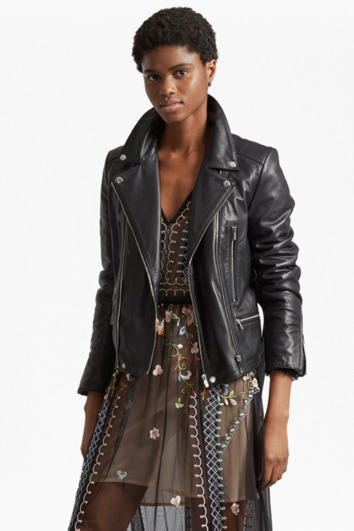 Complete the Look Clare Leather Biker Jacket
