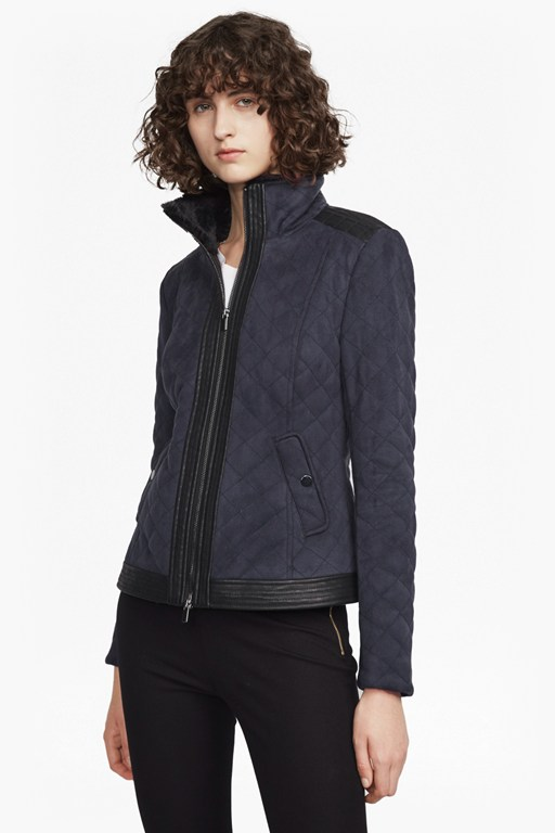 zoe quilted zip up jacket