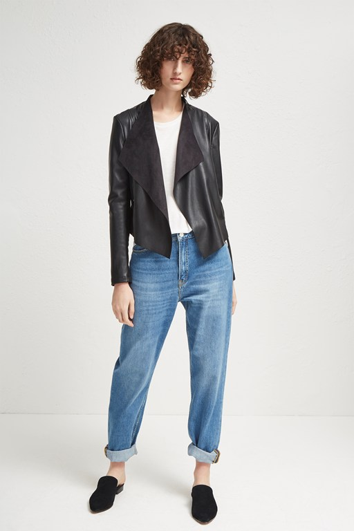 Complete the Look Stephanie PU Waterfall Jacket
