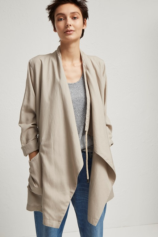 Complete the Look Ellesmere Drape Drawstring Utility Jacket