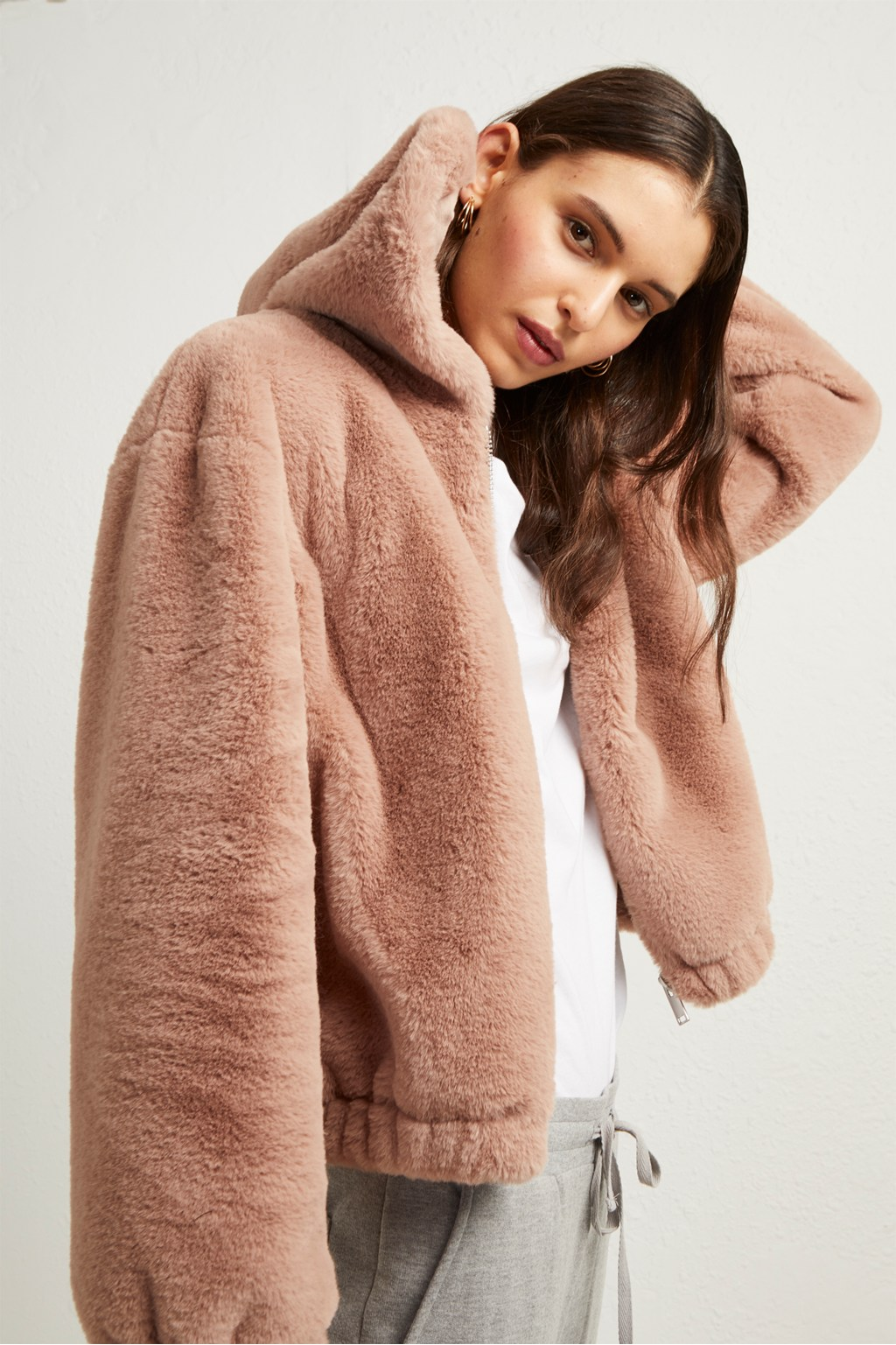 Arabella Faux Fur Hooded Jacket   Sale   French Connection Usa 575ebb56a410
