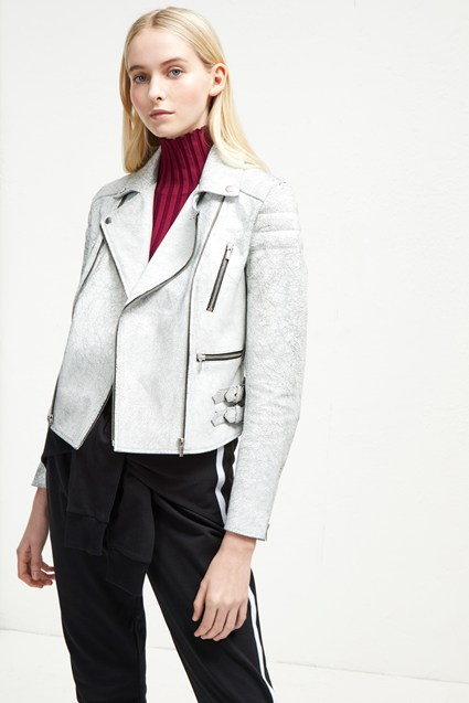 Emelisse Leather Biker Jacket