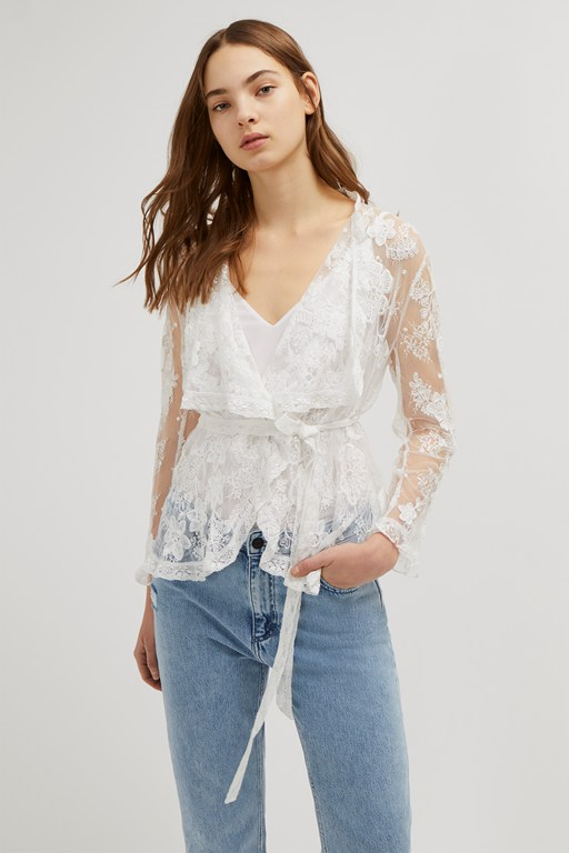 elayna lace waterfall jacket