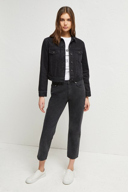 Lilla Denim Micro Jacket