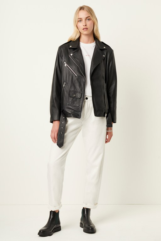 abri leather biker jacket