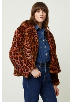 Analia Faux Fur Ombre Leopard Jacket