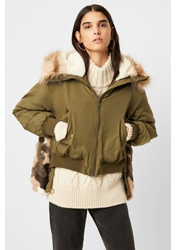 Colleen Camo Faux Fur Aviator Jacket