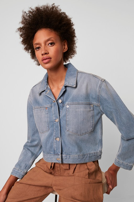 Complete the Look Palmira Cropped Denim Jacket
