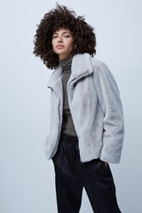 Banna Faux Fur High Neck Jacket