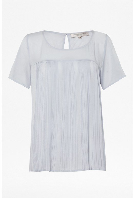 Polly Plains Pleat Top