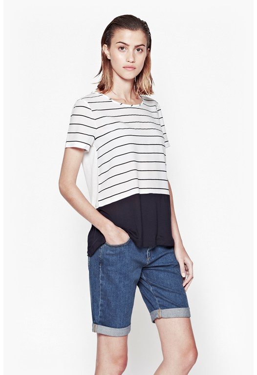 Polly Plain Striped Top