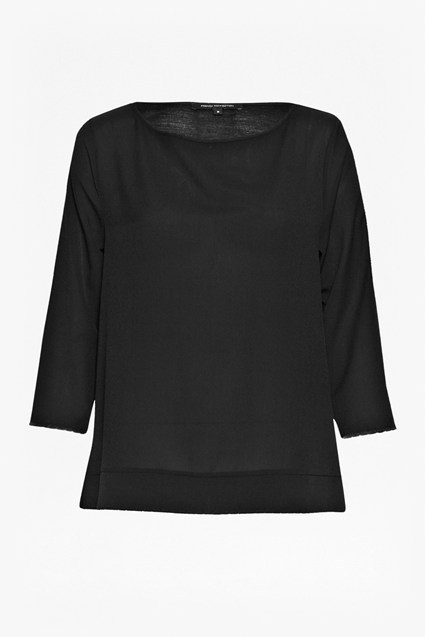 Polly Scallop Long Sleeve Top