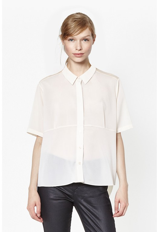 Polly Plains Collard Top