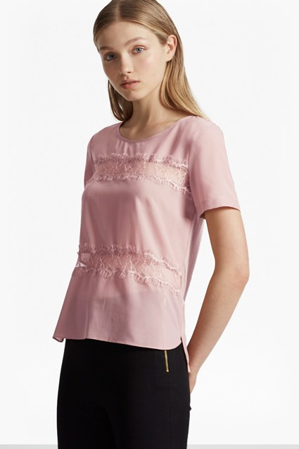 Polly Plains Lace Inserts Top