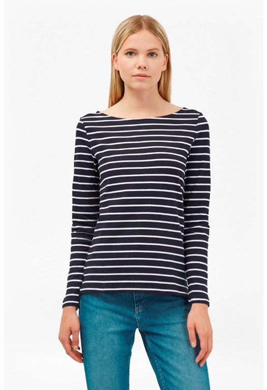 Tim Tim Long Sleeve Striped Top