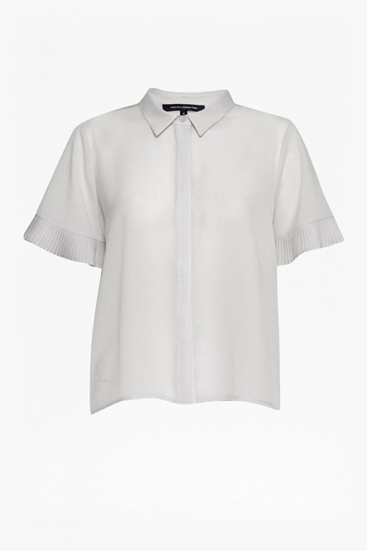 Polly Plains Frill Sleeve Shirt