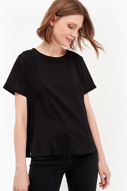 Crepe Light Stitch Detail Top