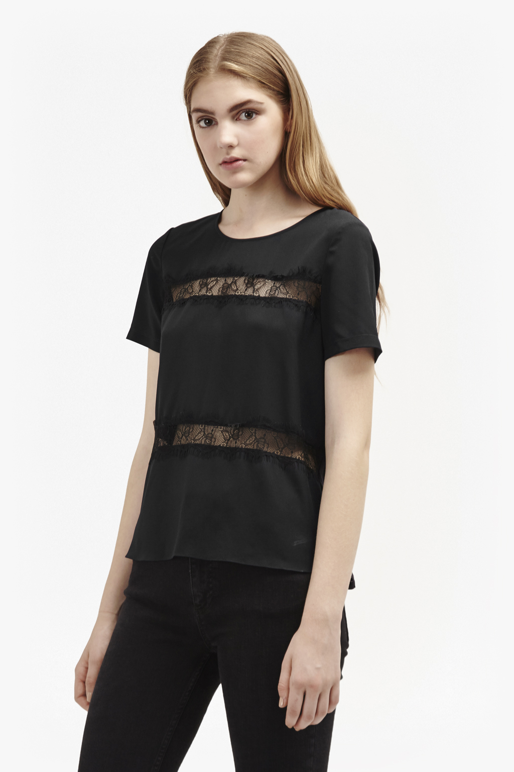French Connection Womens Polly Plains Top