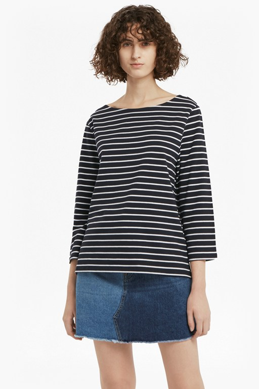tim tim 3/4 length sleeved striped top