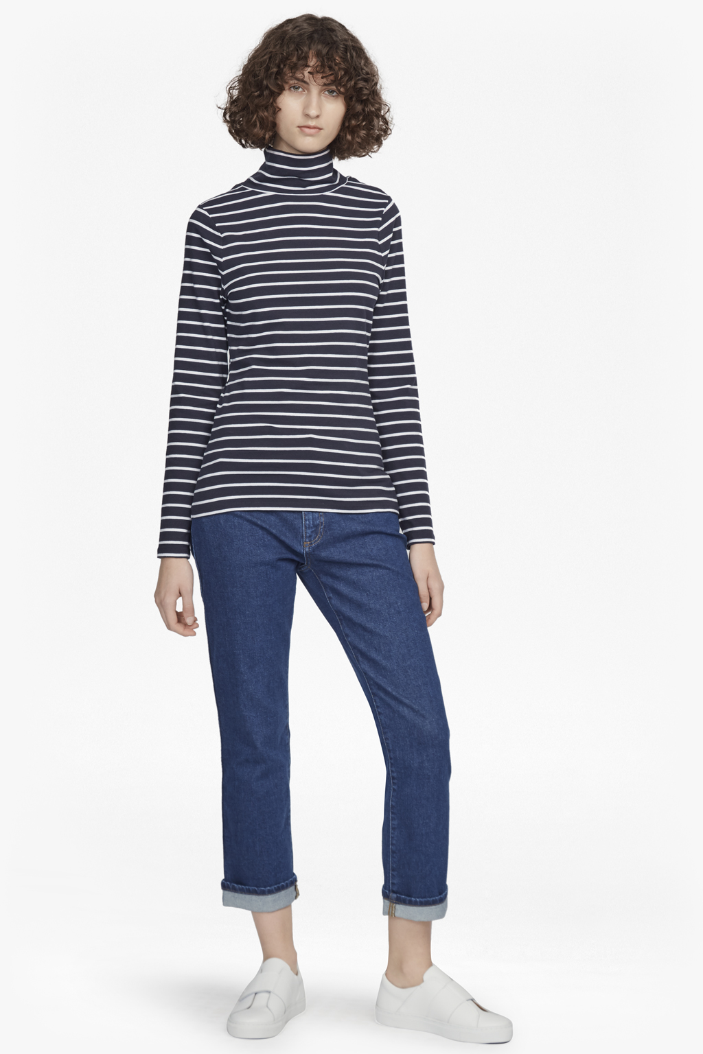 Isla Polo Neck Tim Tim Stripe Top by French Connection