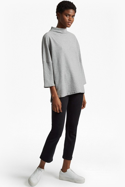 sudan pique mock neck top