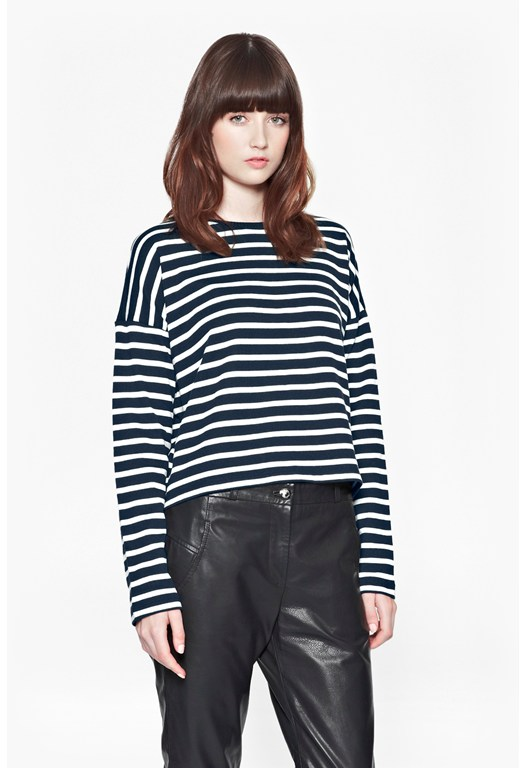 French Stripe Cropped Top