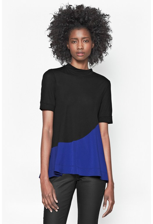 Polly Block High Neck T-Shirt