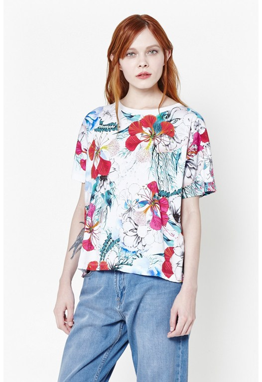 Floral Reef Printed T-Shirt