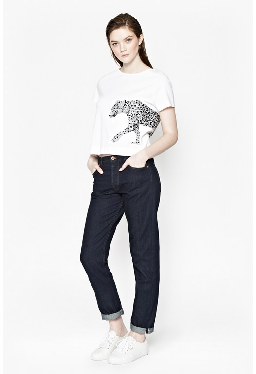 FAST SPARKLE LEOPARD TEE