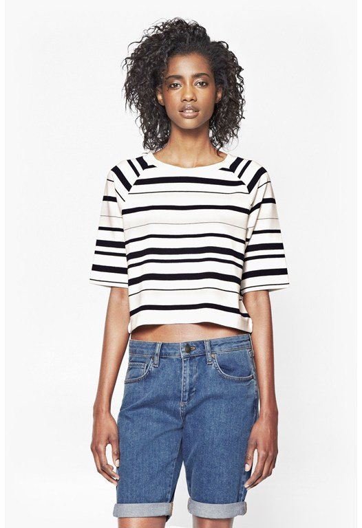JOSHUA STRIPE CROPPED TOP