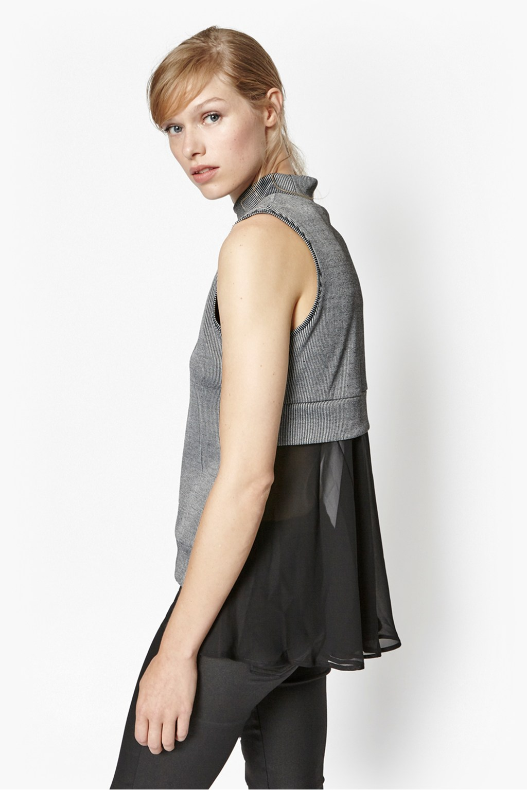 Rachael Layered High Neck Top