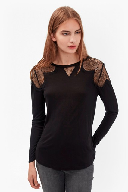 Juliette Lace Long Sleeve Top