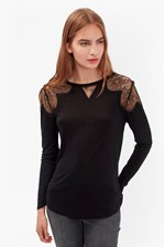 Looks Great With Juliette Lace Long Sleeve Top