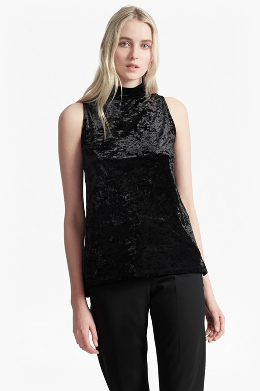 Complete the Look Crushed Velvet Sleeveless Top