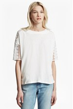Looks Great With Dune Lace Crochet T-Shirt