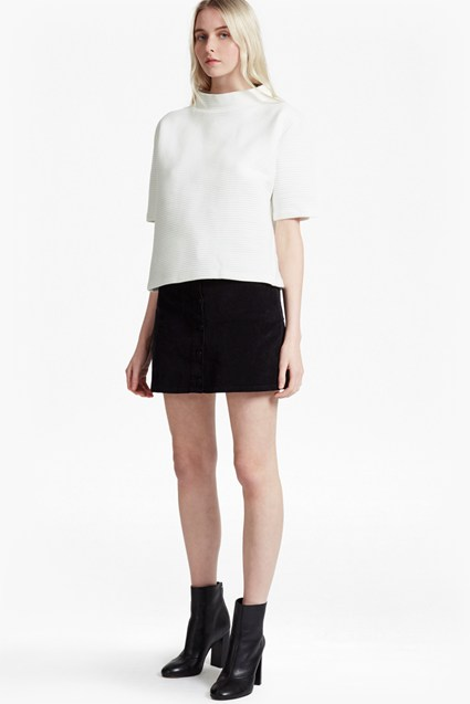 Marin Ottoman Jersey High Neck Top