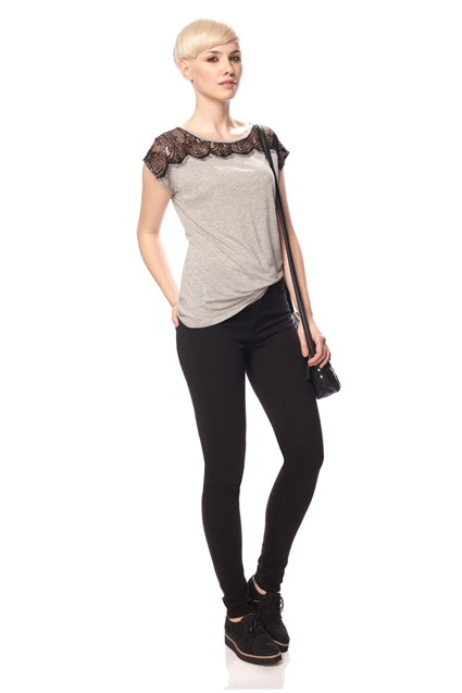 Lena Lace Jersey Top