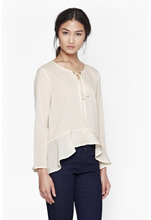 Polly Plains Flared Hem Top